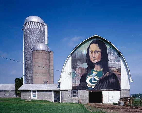Mona Lisa barn art, Wisconsin