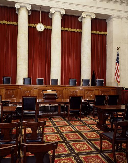 Main Chamber of the US Supreme Court. Source: Photographs in the Carol M. Highsmith Archive, Library of Congress, Prints and Photographs Division.