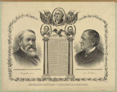 Republican platform and presidential nominees