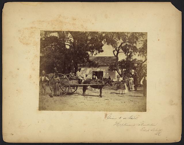 Gwine to de field, Hopkinson's Plantation, Edisto Island, S.C.