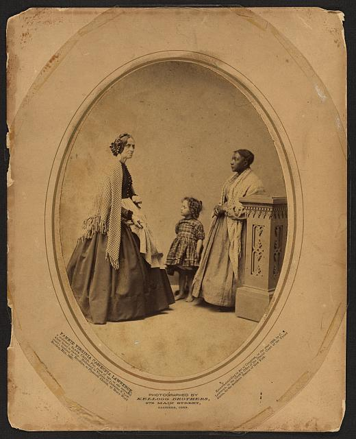 Fannie Virginia Casseopia Lawrence, a redeemed slave child, five years of age as she appeared when found in slavery. Redeemed in Virginia by Catharine [i.e., Catherine] S. Lawrence; baptized in Brooklyn, at Plymouth Church by Henry Ward Beecher, May 1863