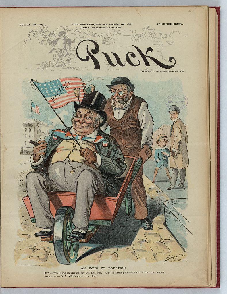 Puck Magazine, November 11, 1896.