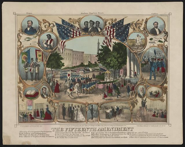 15th Amendment to the US Constitution ratified, 1870 (suffrage regardless of race).