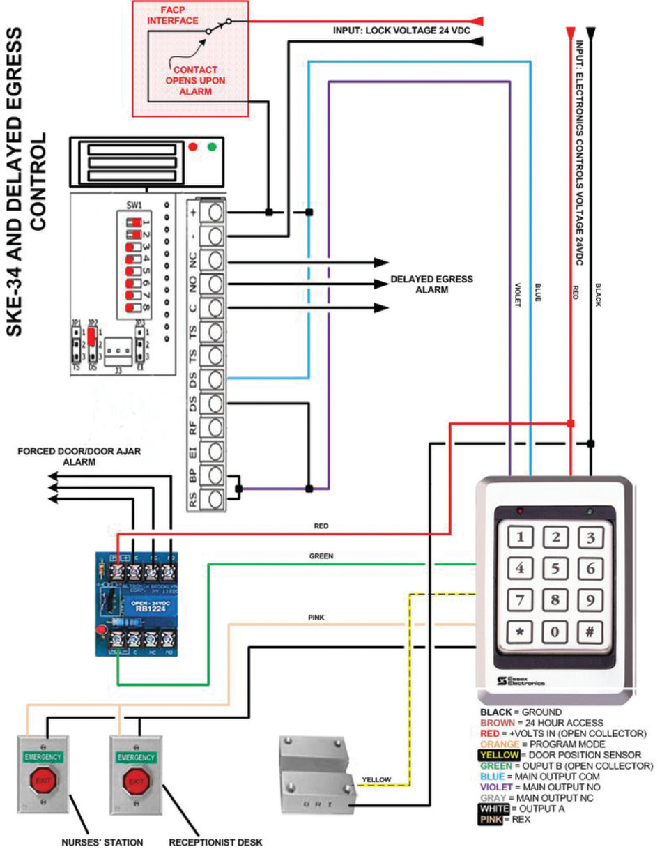 hight resolution of standalones for commercial institutional security solutions wiring diagram for 917 essex delayed egress schematic show caption