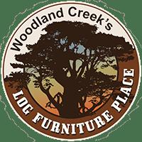 Rustic Cedar Log Open Night Table