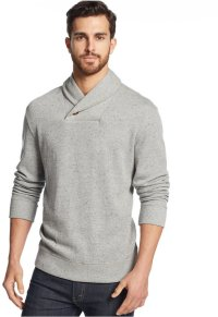 Grey Shawl Neck Sweater: Tasso Elba Sweater Shawl Collar