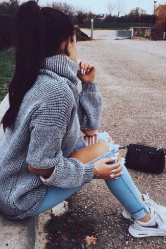 Light Blue Sneakers Outfits For Women (18 ideas & outfits) | Lookastic