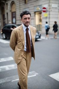 Brown Suit Light Blue Shirt - Go Suits