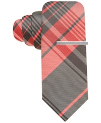 Alfani Red Tie Josie Plaid With Tie Bar | Where to buy ...