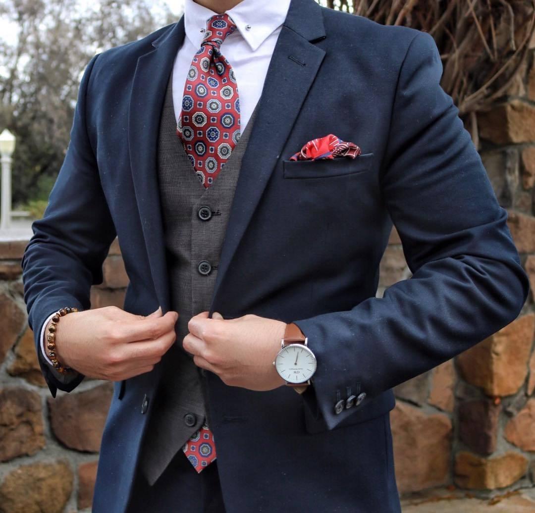 Anzug mit weste blau  Strenge Anzge Foto Blog 2017