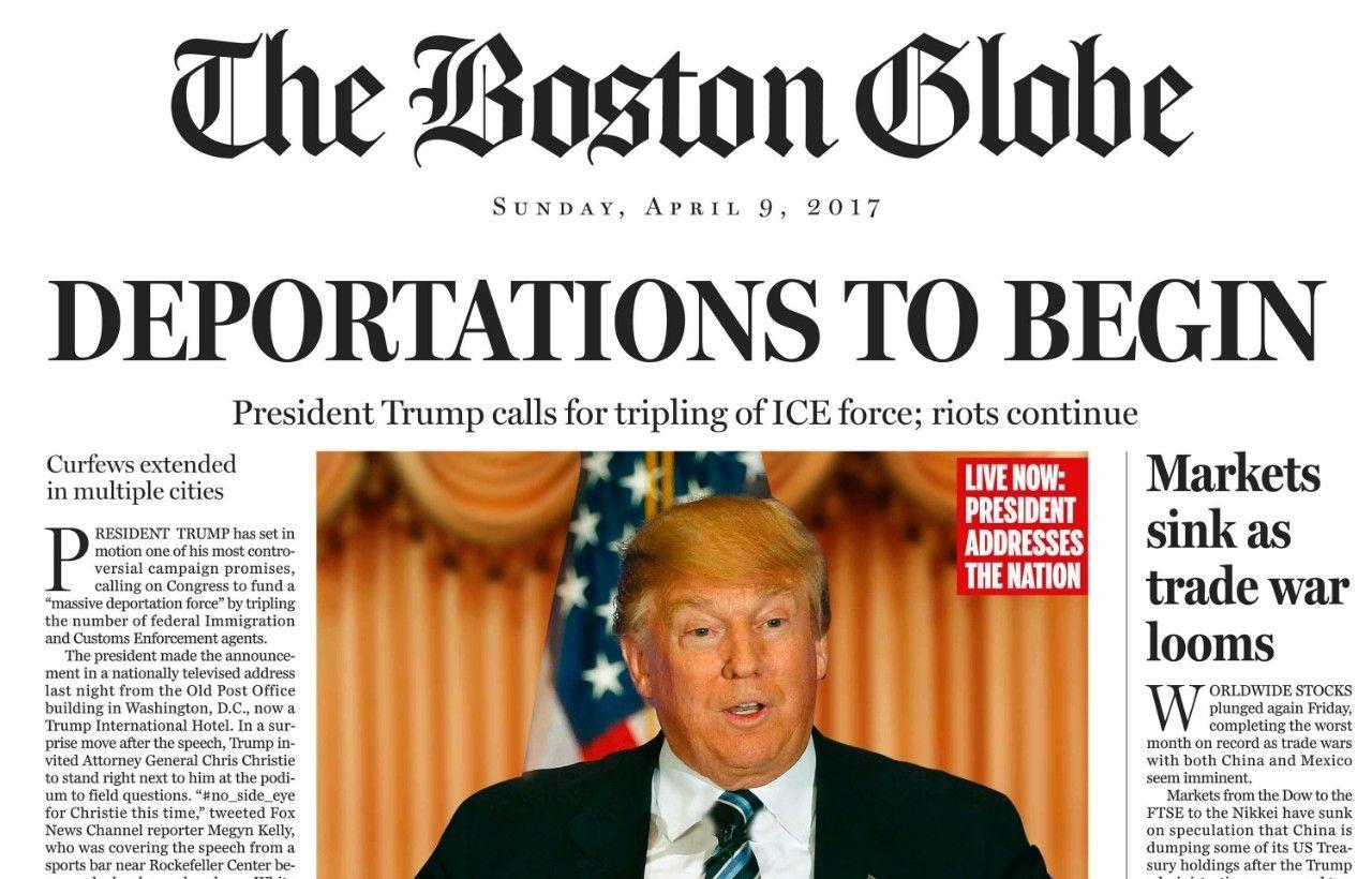 Portada de The Boston Globe. Foto de Fox News