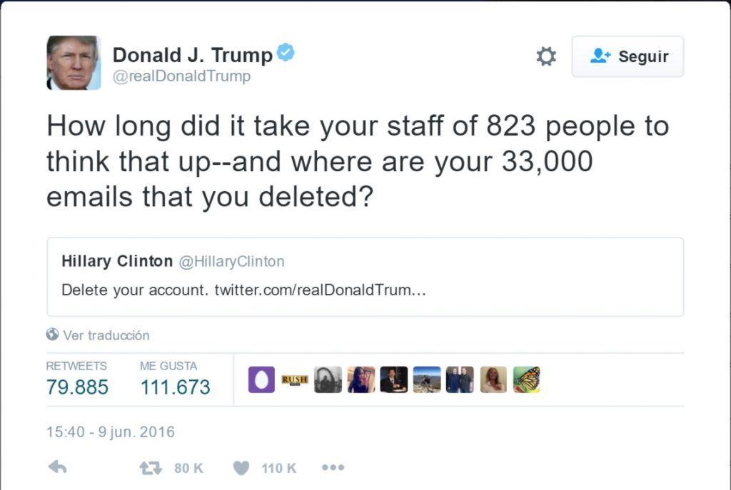 Tuit Donald Trump 2