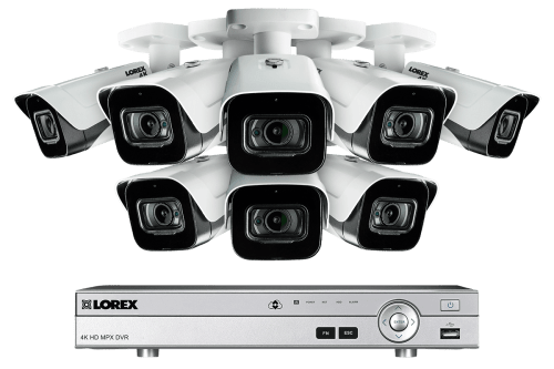 small resolution of 4k 8mp ultra hd 8 channel security system with 8 ultra hd audio cameras