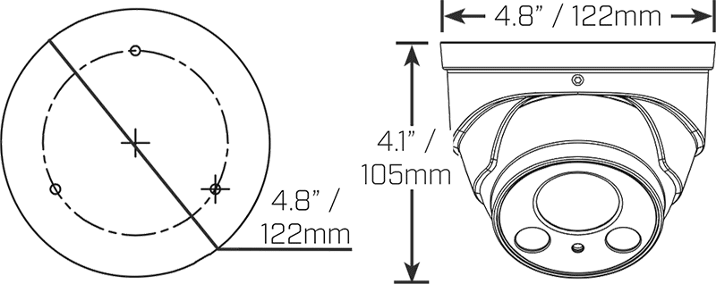 Lorex LNE8964B 4K UHD 8MP Motorized IP Audio Dome Camera