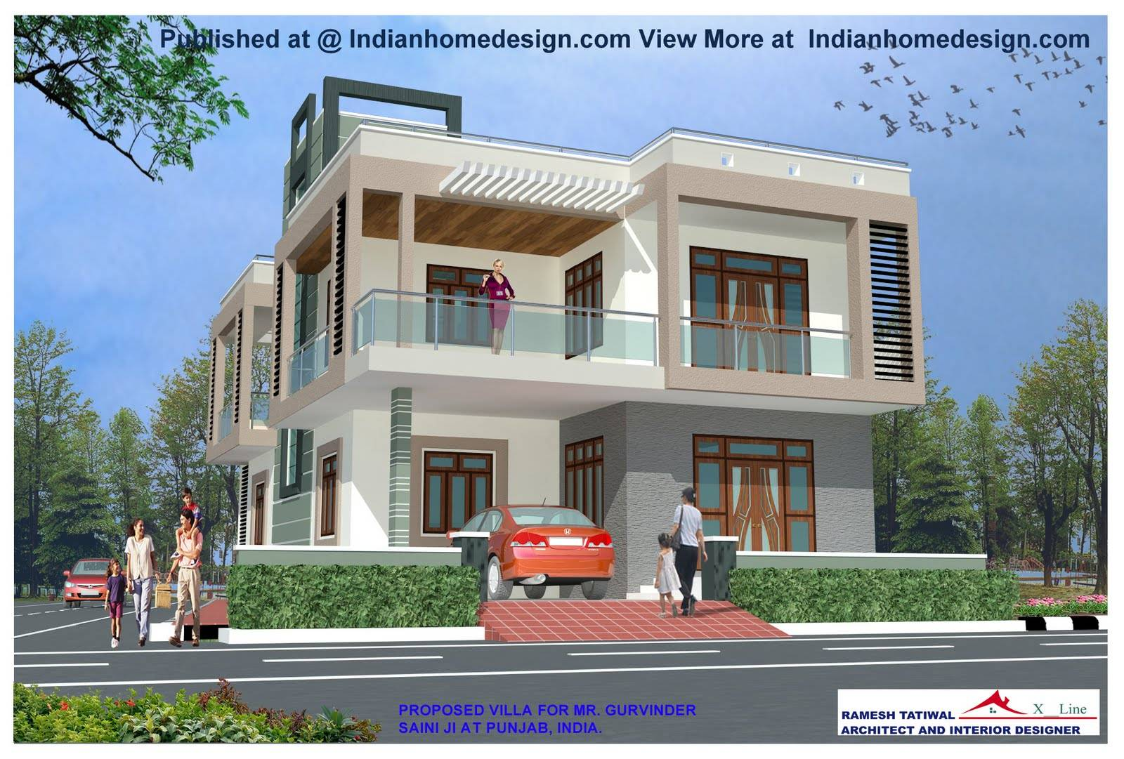 Indian House Design Front View Modern House