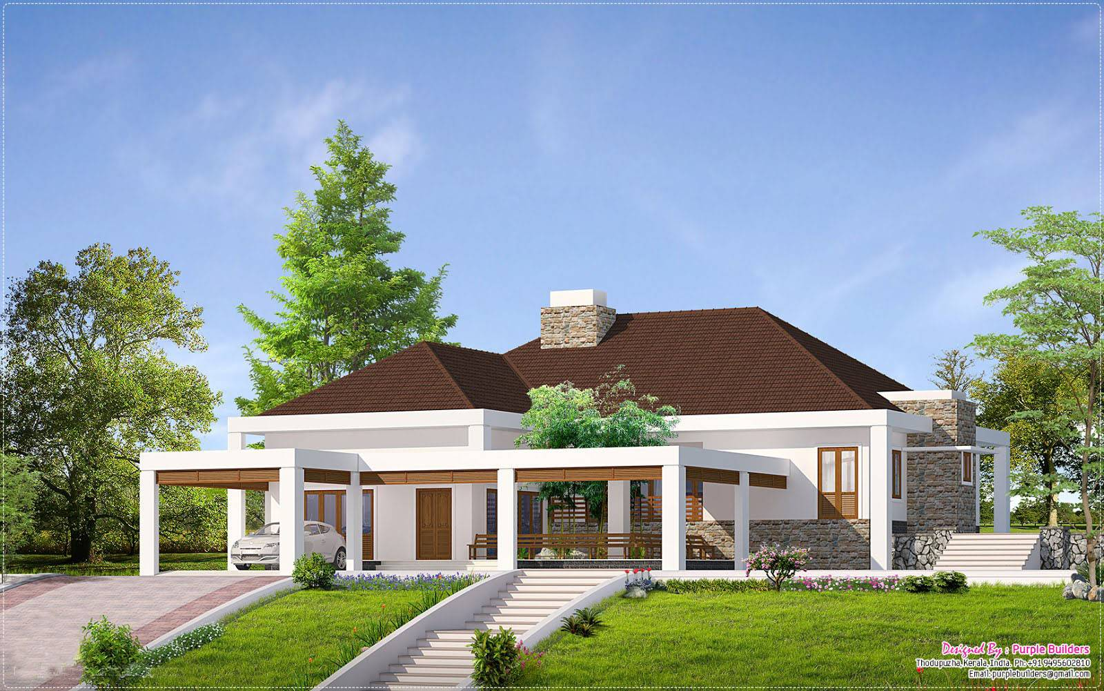 New House Design Single one story houses in kerala | ideasidea
