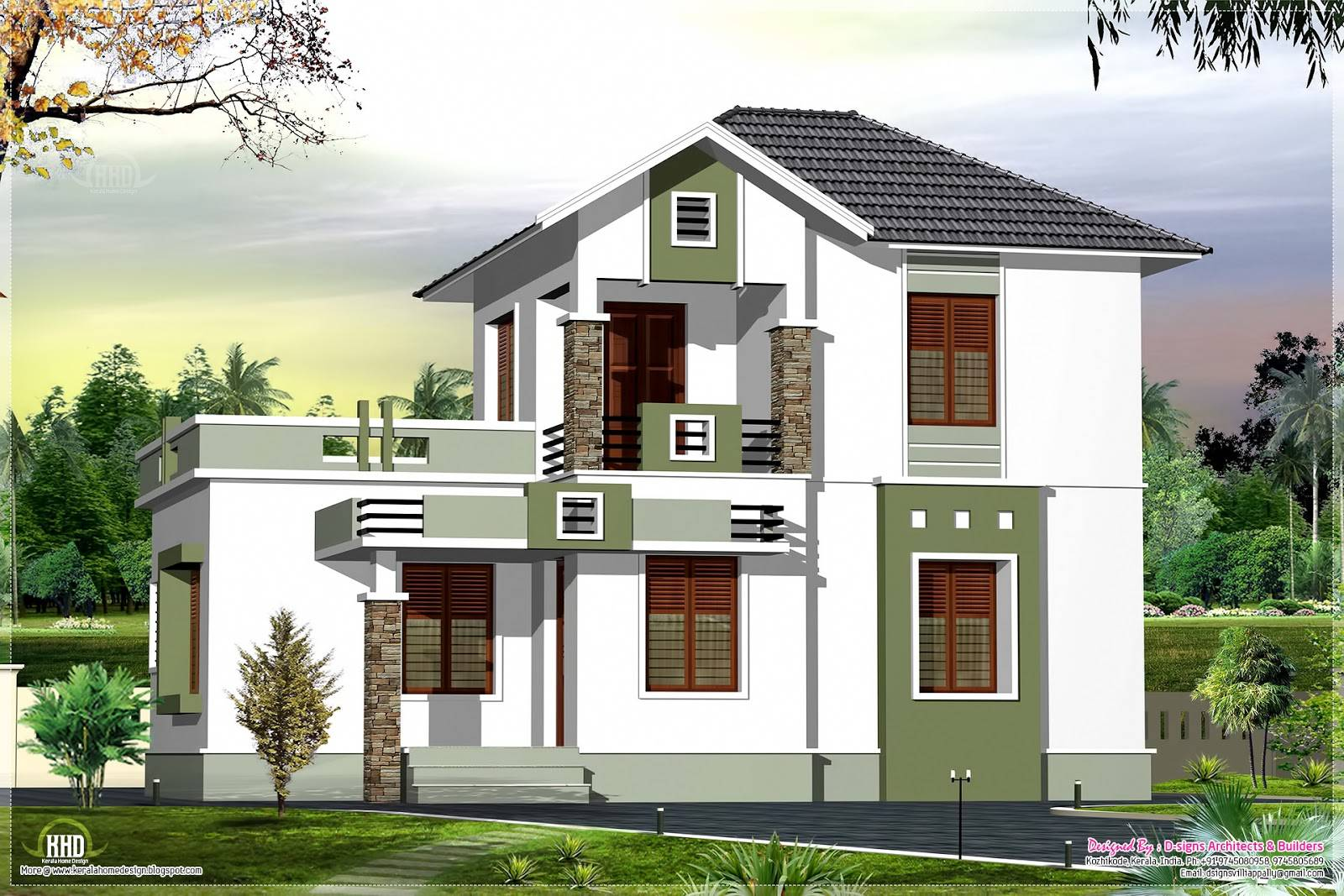 Rear Balcony Home Designs House Plans 2017