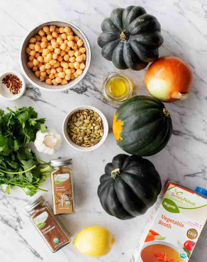 Acorn Squash with Chickpeas & Chimichurri ingredients