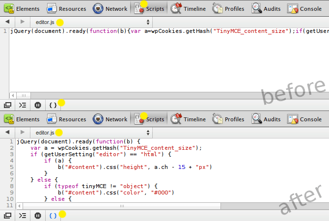 pretty_print_js_google_chrome