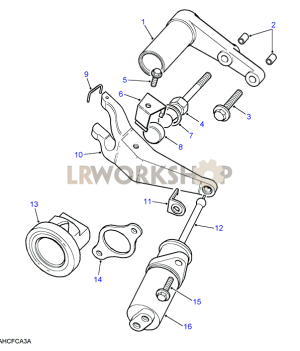 Clutch Release Mechanism  35 V8  Find Land Rover parts