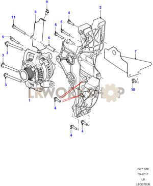 Alternator  22 Tdci  Find Land Rover parts at LR Workshop