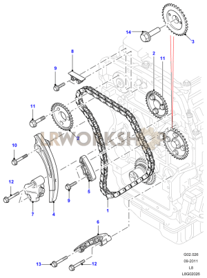 Timing Gear  22 Tdci  Find Land Rover parts at LR Workshop
