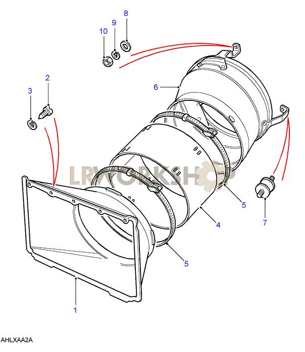 Land Rover Engine Cooling Diagram. land rover oem 10 13