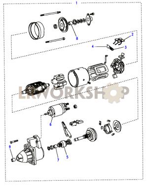Starter Motor Bosch  200Tdi  Find Land Rover parts at LR Workshop