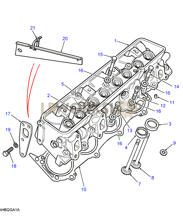 Engine Head Diagram