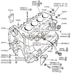 Cylinder Block  225 Litre Diesel  Find Land Rover parts