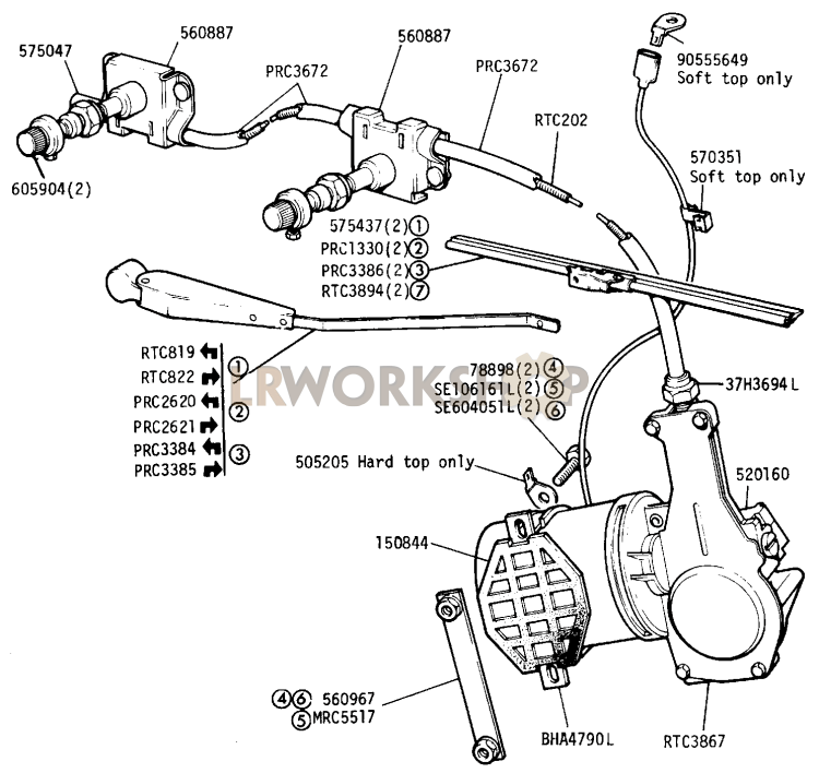 Land Rover Defender Wiper Motor Wiring Diagram