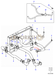 Land Rover Engine Cooling Diagram. land rover oem 10 13