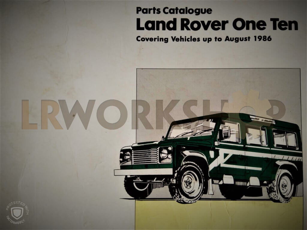 hight resolution of paper land rover parts catalogues