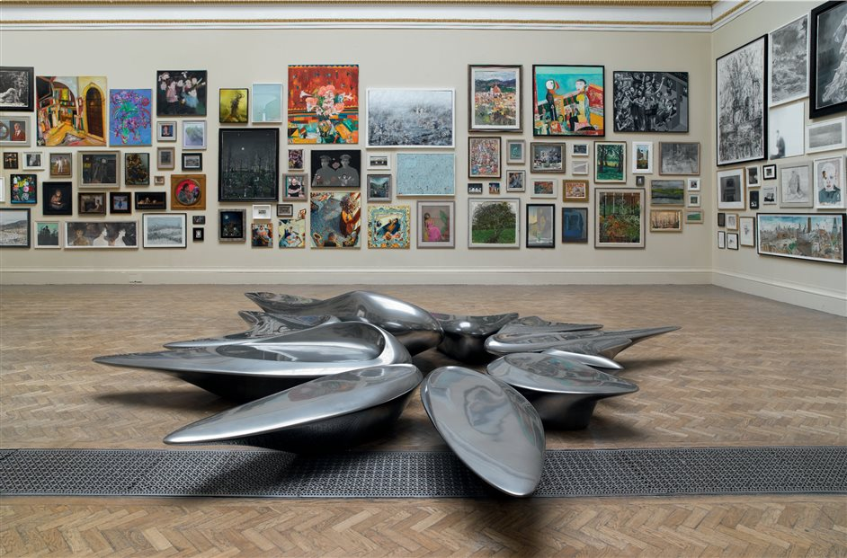 Royal Academy Summer Exhibition - Lecture Room, installation view. Summer Exhibition 2013. Photo by John Bodkin
