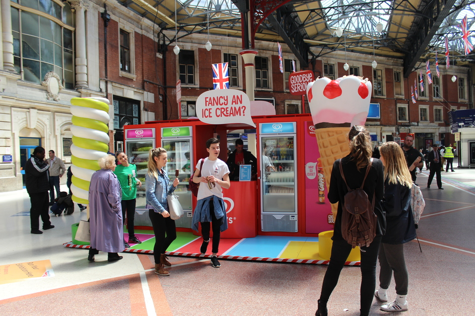Walls Ice Cream Pop Up Shop At Westfield London