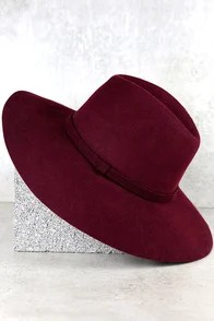 Wishing on a Star Burgundy Fedora Hat