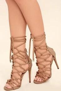 a4570cbd8881e Steve Madden Dancin Blush Nubuck Leather Lace-Up Heels Image