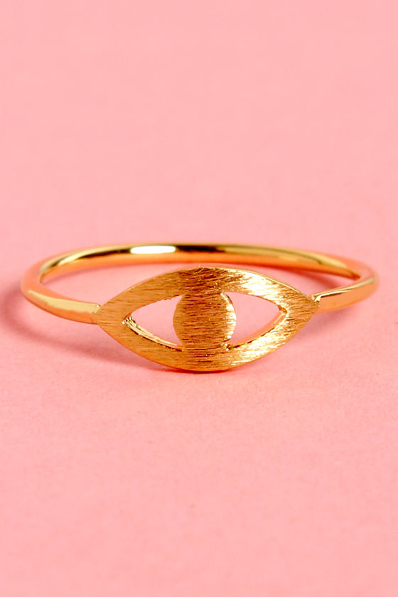Cool Eye Ring  Gold Ring  Knuckle Ring  1200