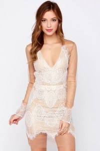 Sexy Ivory Dress