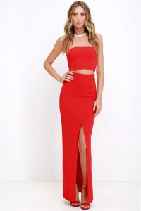 Chic Red Dress - Two-Piece Dress - Maxi Dress - $119.00