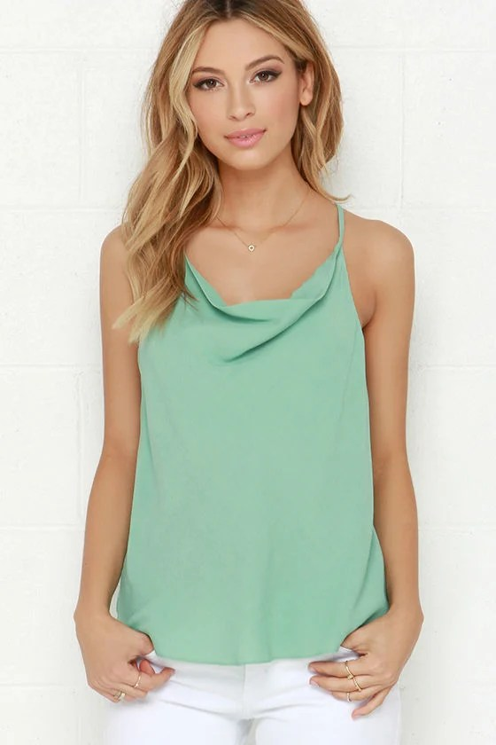 Right as Rain Mint Green Top at Lulus.com!