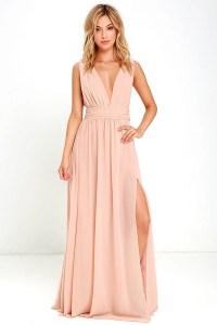 Blush Gown - Maxi Dress - Sleeveless Maxi Dress - $84.00