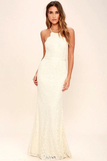 Zenith Cream Lace Maxi Dress