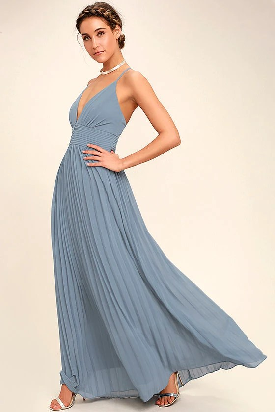 Image Result For Dusty Blue Maxi Dress