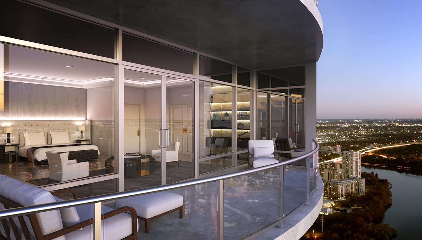 The GlassEnclosed Austonian Penthouse will cost you 30