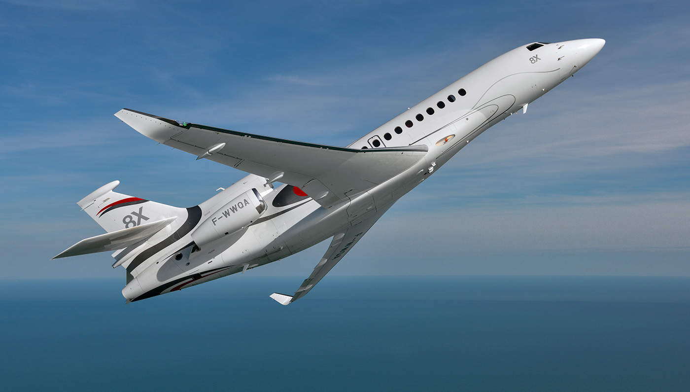 Dassault Falcons 58M Falcon 8X Business Jet Is What