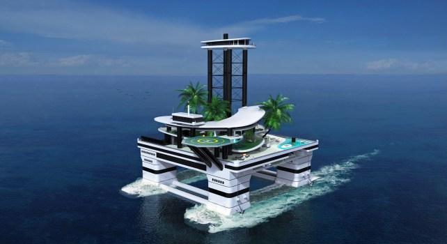 Kokomo Island : Une île flottante privée