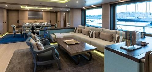 Le salon dans le Engelberg Yacht