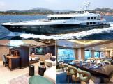 Vue intérieure et extérieure du Yacht
