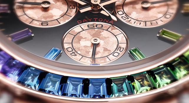 Rolex Cosmograph Rainbow Daytona : Une version haute en couleur d'un modèle emblématique